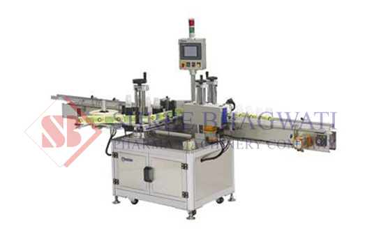Jar sticker labeler machine