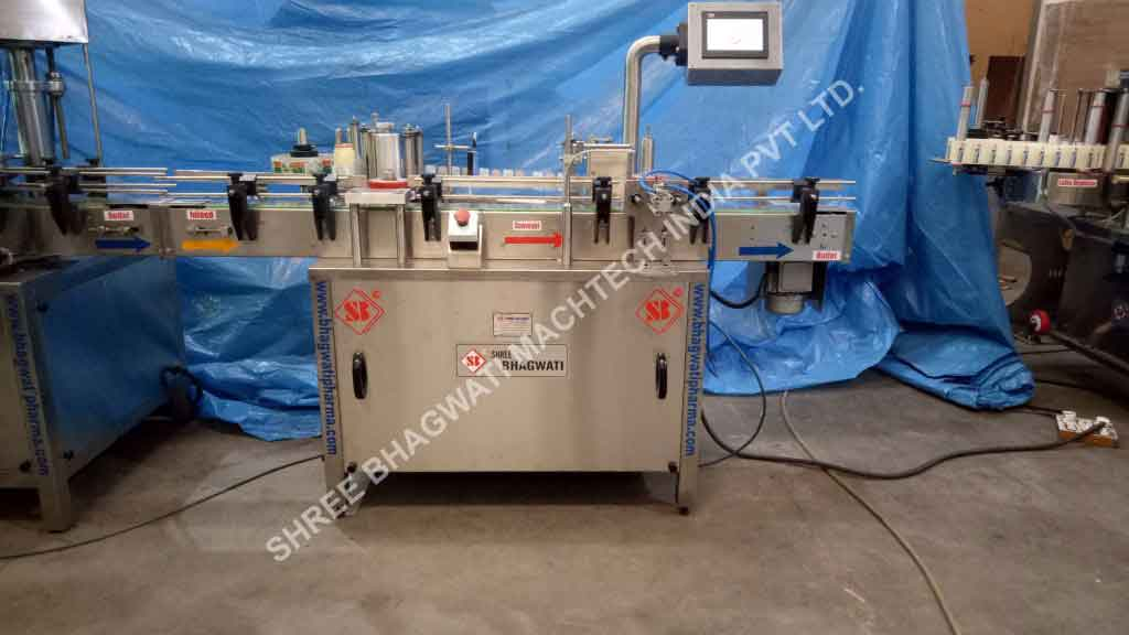 Automatic Self Adhesive Vertical Vial Sticker Labelling Machine