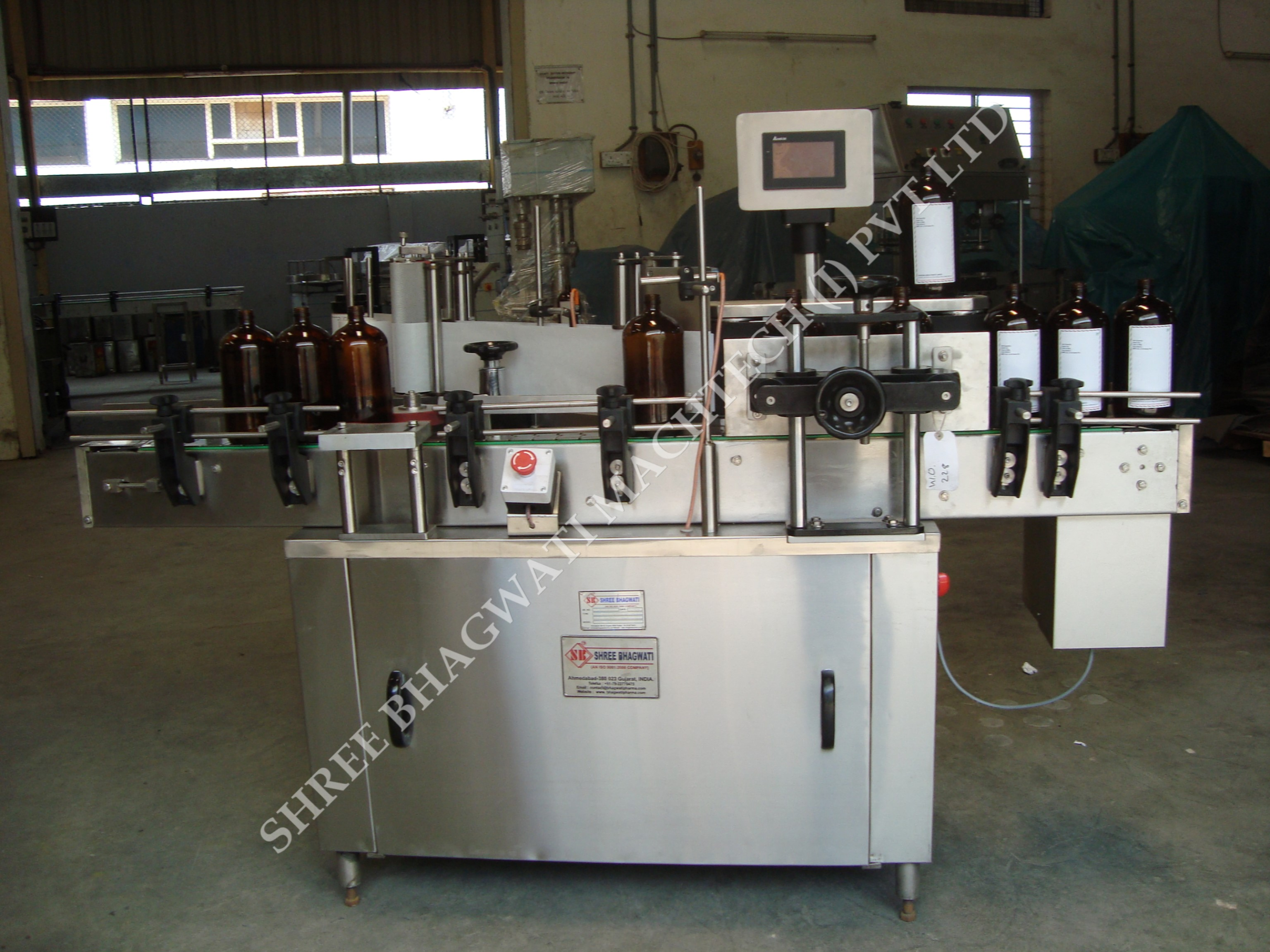 Glass Bottle Vial Labeling Machine