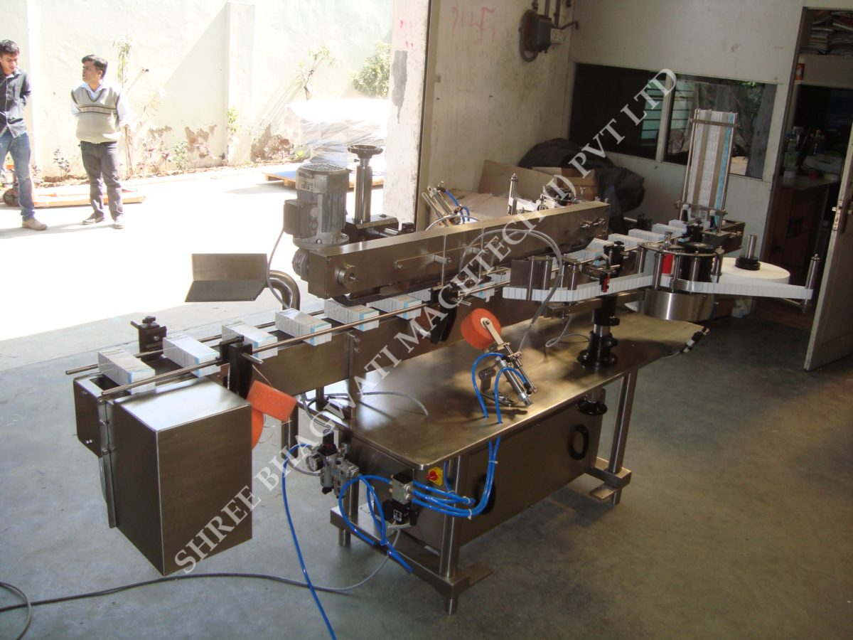 Automatic Carton Corner Labeling Machine - One or Two Side Carton Labeler Machine