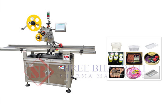 Top labeler machine, Top Side labeling machine – Top label applicator