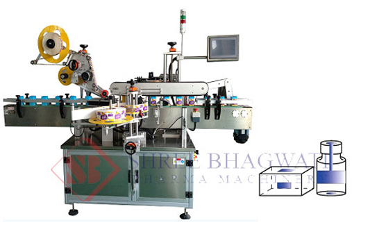 Top and Side Labeling Machine – Two Head Label Applicator for Bottle