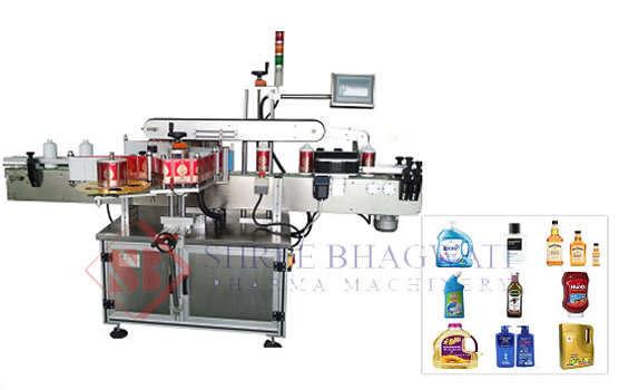 Fron-Back-Sides-Labeling-Machine-Two-Label-Applicator-Labeler-Machine
