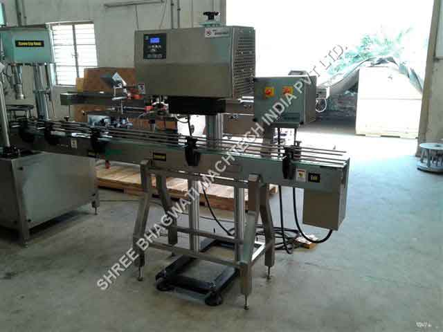 induction cap sealing machine for the food industry
