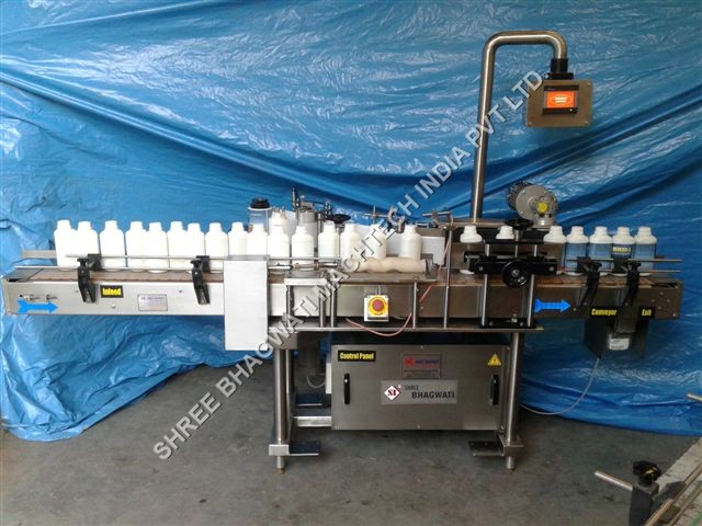 pesticide bottle labeller