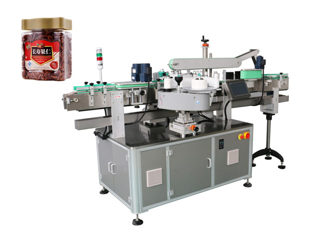 Container labeling machine